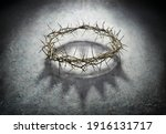 Wreath of thorns with king...