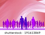 an image of crowd and cloth | Shutterstock . vector #191613869