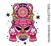 maya culture mask. ethnic...   Shutterstock .eps vector #1916177851