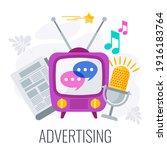 Advertising Icon. Tv  Radio And ...