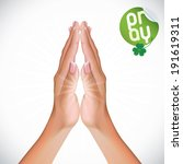 3d,arm,background,beauty,caucasian,clasped,clean,clover,concept,confession,divinity,elegant,faith,female,finger