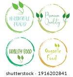 set leaf symbol vector icon... | Shutterstock .eps vector #1916202841