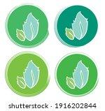 set leaf symbol vector icon... | Shutterstock .eps vector #1916202844