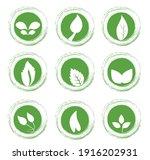 set leaf symbol vector icon... | Shutterstock .eps vector #1916202931