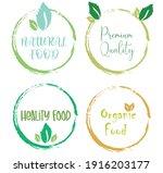 set leaf symbol vector icon... | Shutterstock .eps vector #1916203177