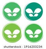 set leaf symbol vector icon... | Shutterstock .eps vector #1916203234