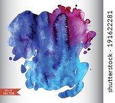 vector watercolor background... | Shutterstock .eps vector #191622281