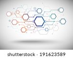 a network of connected cells of ... | Shutterstock .eps vector #191623589