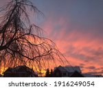Sunset In Winter Time Evening