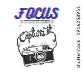 focus and capture it typography ... | Shutterstock .eps vector #1916258951