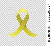 yellow ribbon vector in png....   Shutterstock .eps vector #1916283917