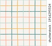 colorful crossed lines grid... | Shutterstock .eps vector #1916295524