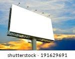 blank billboard for... | Shutterstock . vector #191629691