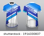 jersey design for cycling ... | Shutterstock .eps vector #1916330837
