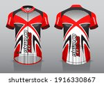 jersey design for cycling ... | Shutterstock .eps vector #1916330867