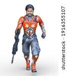 3d rendering of cool man | Shutterstock . vector #1916355107