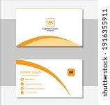 modern business card template...   Shutterstock .eps vector #1916355911