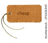 cheap tag with string isolated... | Shutterstock . vector #191636345