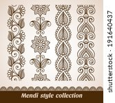 ornamental seamless borders.... | Shutterstock .eps vector #191640437