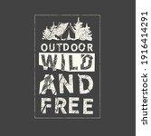 outdoor wild and free. grunge...   Shutterstock .eps vector #1916414291