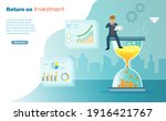 businessman manage time to...   Shutterstock .eps vector #1916421767