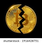 bitcoin broken coin  business... | Shutterstock .eps vector #1916428751