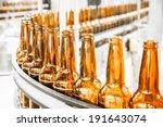 Beer Bottles On The Conveyor...