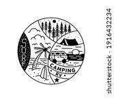 camping adventure tattoo design.... | Shutterstock .eps vector #1916432234