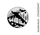 mountains adventure tattoo... | Shutterstock .eps vector #1916432447