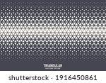 triangles halftone pattern... | Shutterstock .eps vector #1916450861