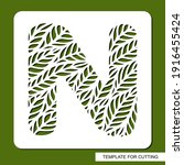 stencil with the letter n made... | Shutterstock .eps vector #1916455424