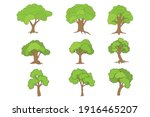 tree shape collection  simple... | Shutterstock .eps vector #1916465207