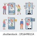 smartphone health care.... | Shutterstock .eps vector #1916498114