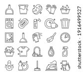 cleaning icons set vector...   Shutterstock .eps vector #1916499527