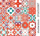 decorative color ceramic...   Shutterstock .eps vector #1916510387