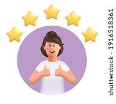 3d cartoon character. young... | Shutterstock .eps vector #1916518361