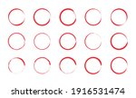 red circle pen draw set.... | Shutterstock .eps vector #1916531474