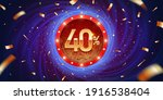 40 percent discount golden 3d... | Shutterstock .eps vector #1916538404