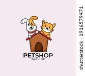 pet shop care logo design... | Shutterstock .eps vector #1916579471