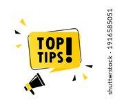 megaphone with top tips speech...   Shutterstock .eps vector #1916585051