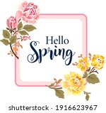 square banner with the hello... | Shutterstock .eps vector #1916623967