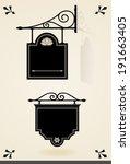 vintage signboards | Shutterstock .eps vector #191663405