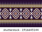 gemetric ethnic oriental ikat... | Shutterstock .eps vector #1916645144