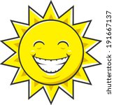happy cartoon sun vector... | Shutterstock .eps vector #191667137