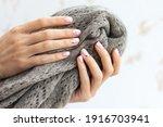 female hand manicure close up... | Shutterstock . vector #1916703941