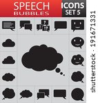speech bubbles icons set vector ...