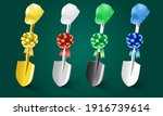 set of different shovels and... | Shutterstock .eps vector #1916739614