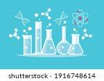 chemical laboratory glassware...   Shutterstock .eps vector #1916748614