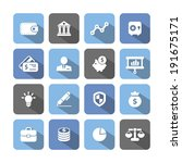 colored finance icons with...   Shutterstock .eps vector #191675171