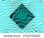 turquoise rhombus frame  teal... | Shutterstock .eps vector #1916752661